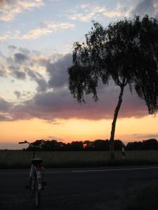 2009 Abendtour mit dem Rad